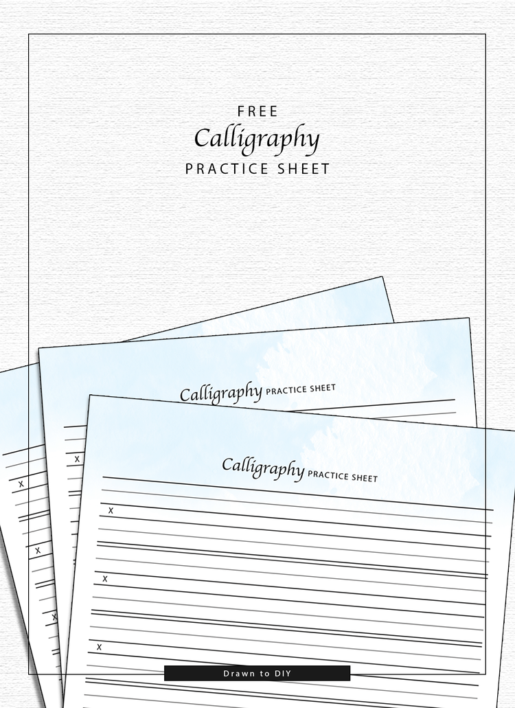 Free Calligraphy Practice Sheet Scrap Booking