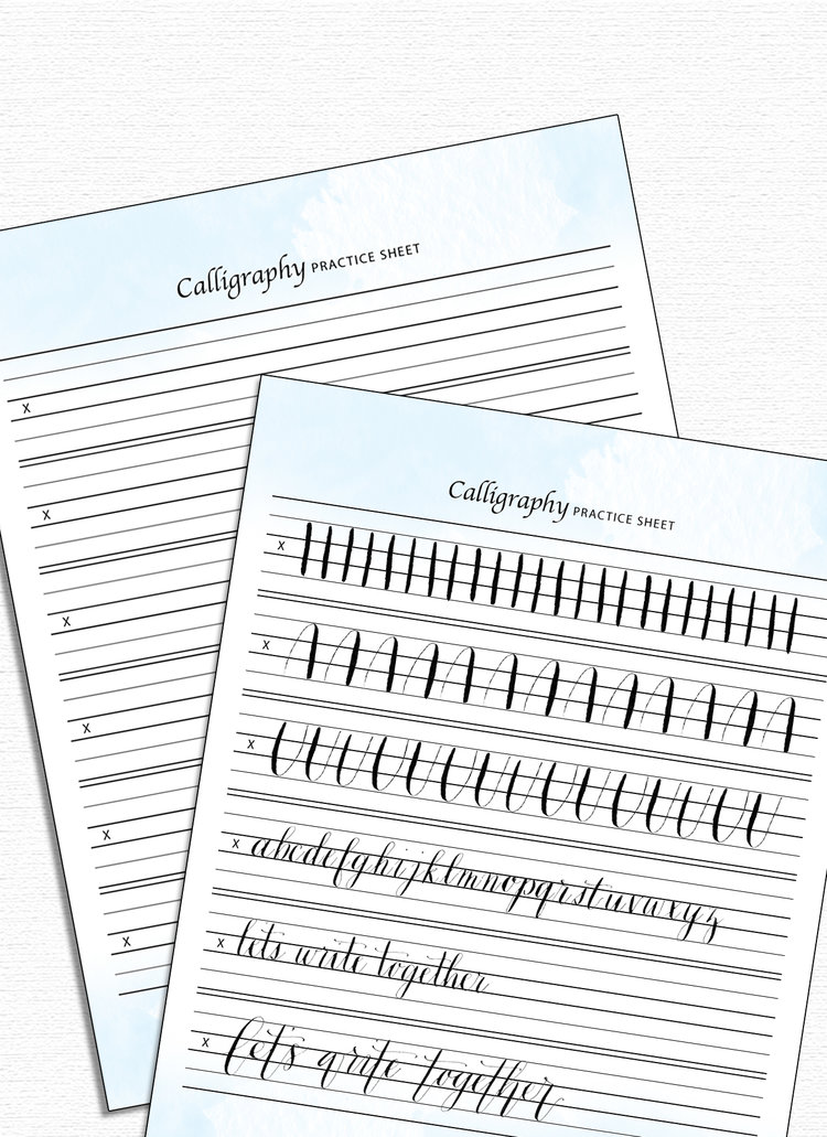 Calligraphy Practice Sheet — Drawn to DIY