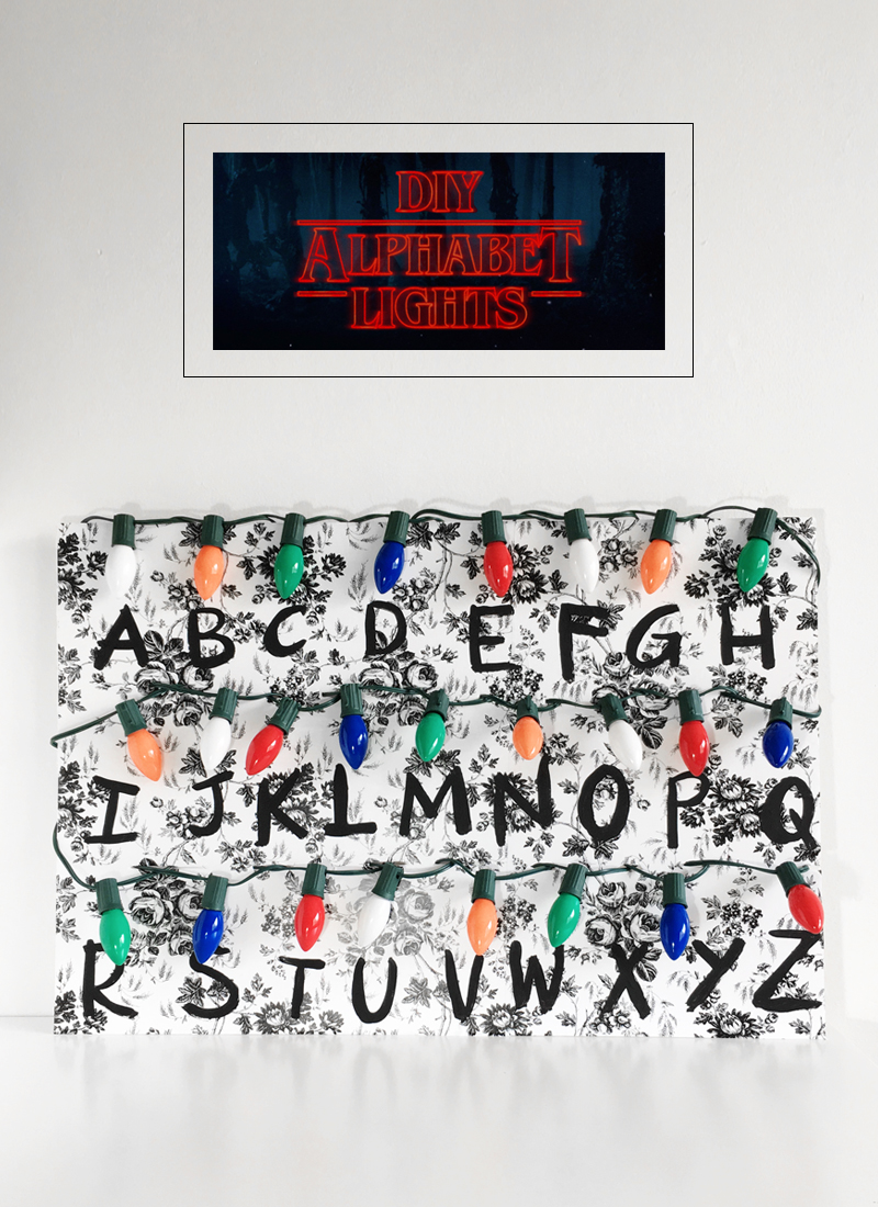 DIY Stranger Things Alphabet Lights