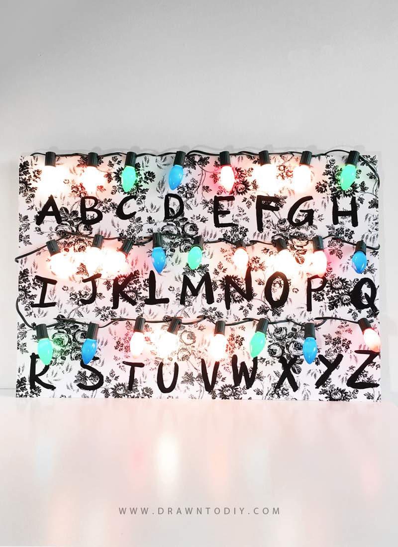 Stranger Things Alphabet Lights by Drawn to DIY