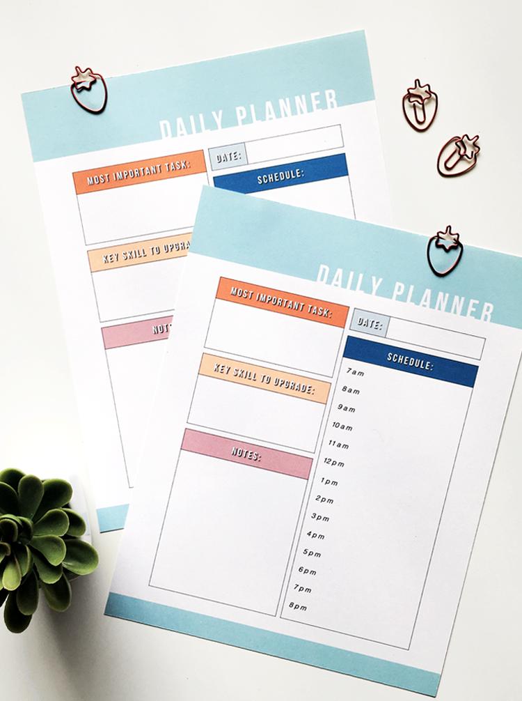 Free Daily Planner Printable @DrawntoDIY