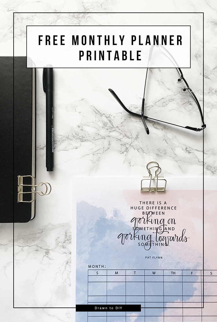 Free Monthly Planner Printable @DrawntoDIY