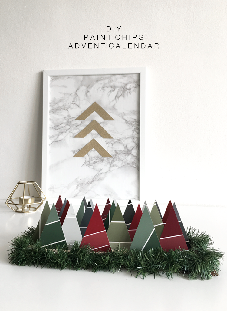 DIY Paint Chips Advent Calendar @DrawntoDIY