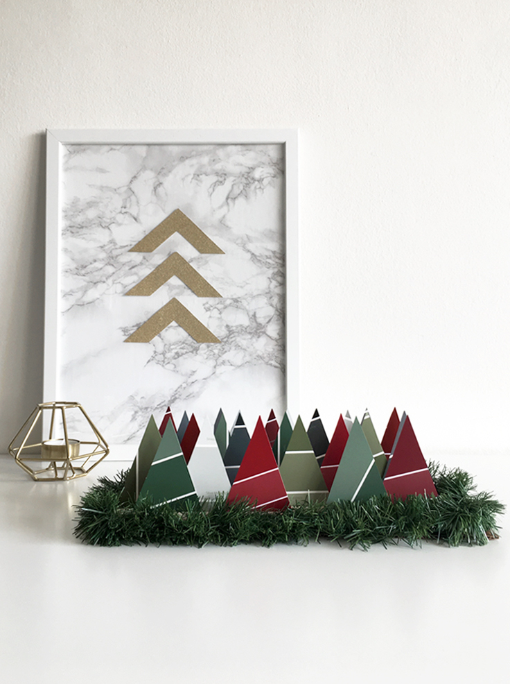 DIY Advent Calendar Paint Chips @DrawntoDIY