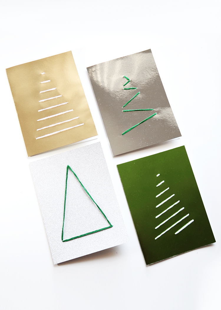 Diy embroidered holiday cards — drawn to