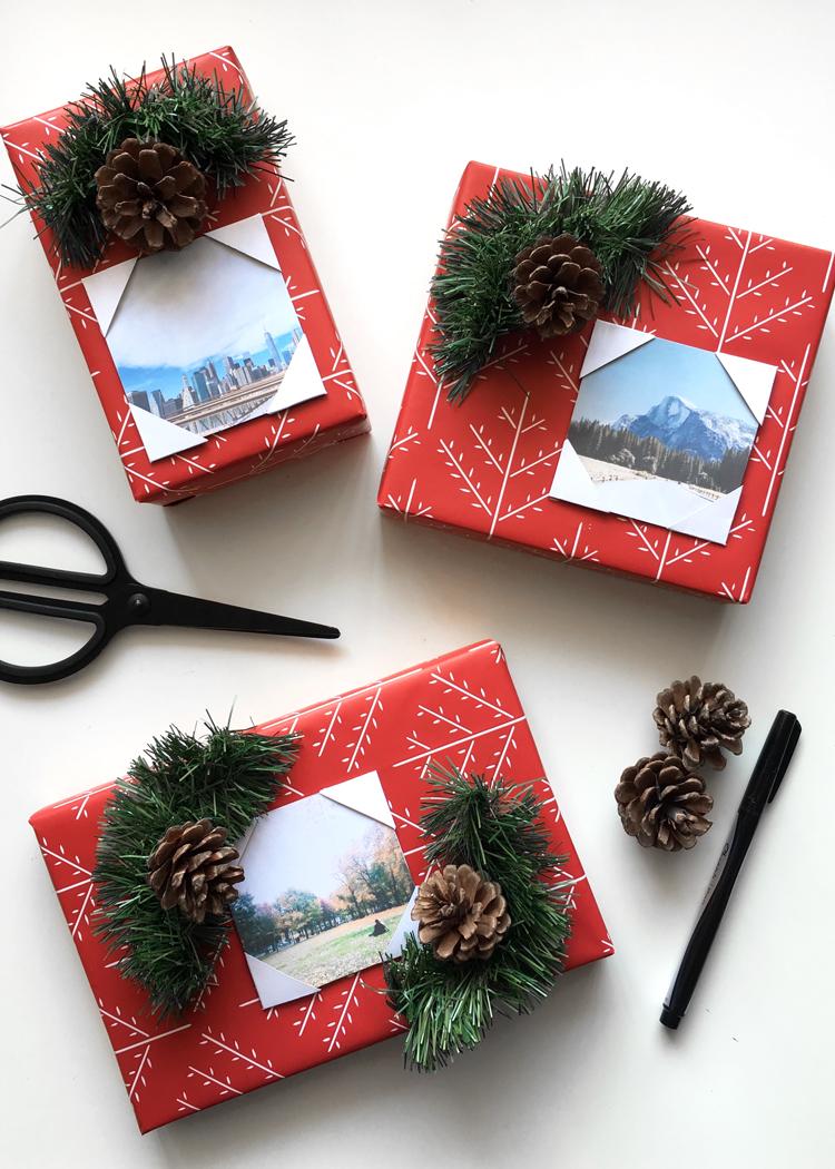 DIY Photo Gift Wrapping @DrawntoDIY