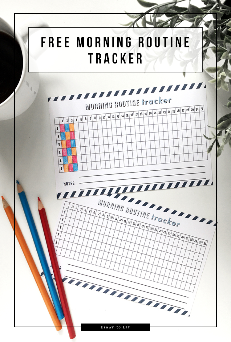 Free morning routine tracker printable @DrawntoDIY