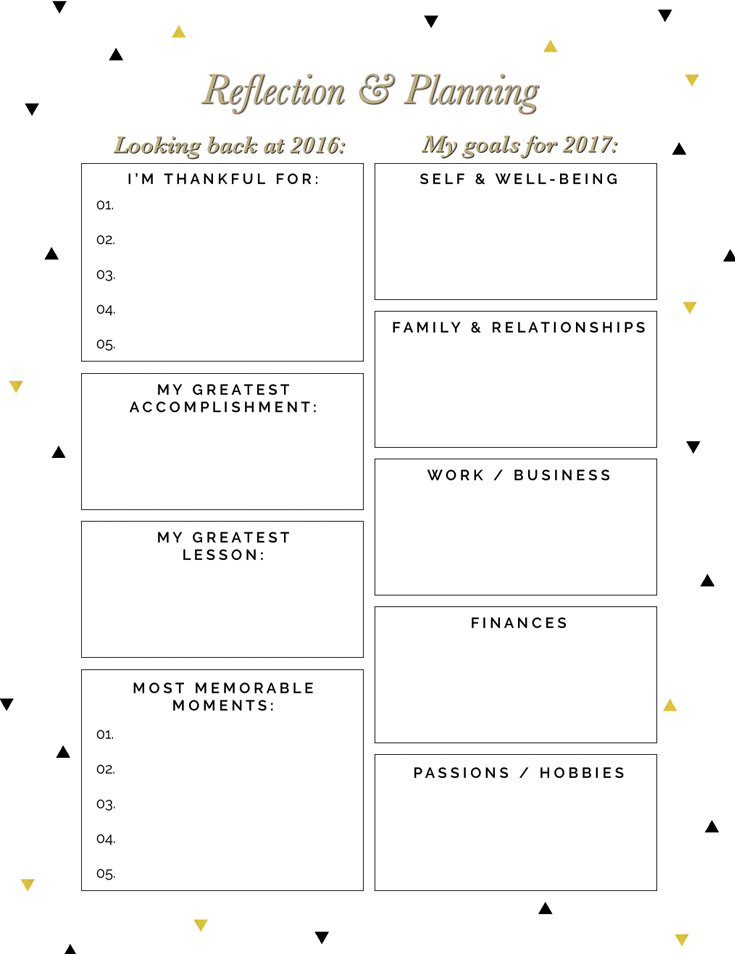 Free New Year Reflection and Planning Printables — Drawn to DIY