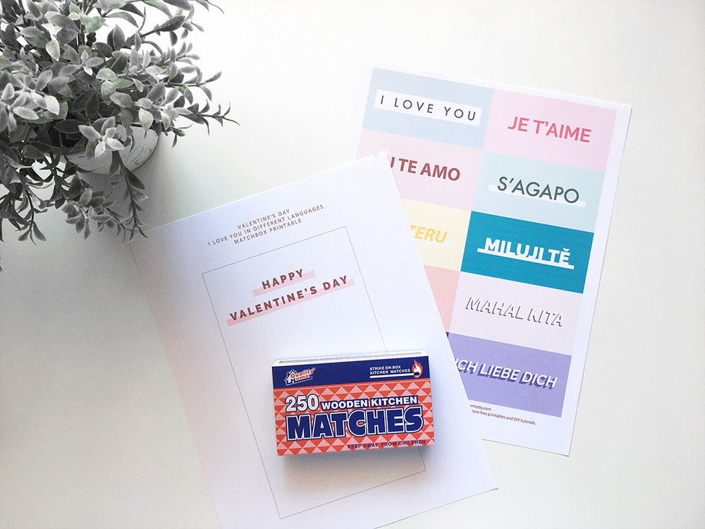Valentines Day I Love You Matchbox @DrawntoDIY