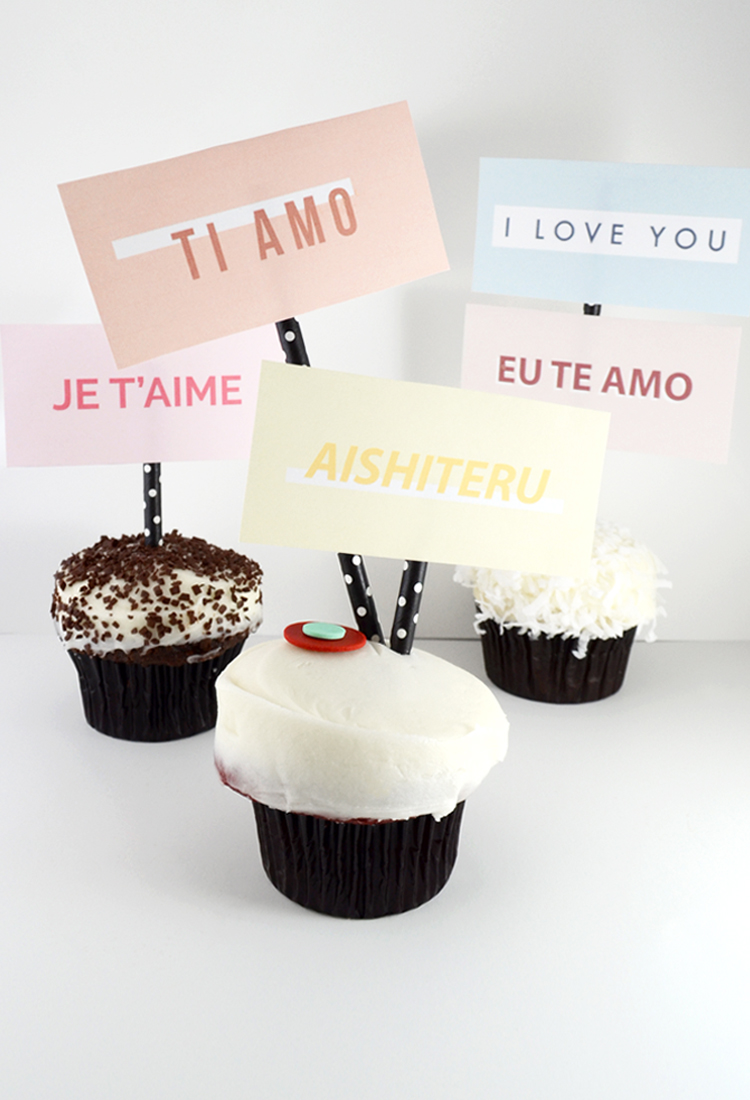 Valentine's Day I Love You Cupcake Toppers @DrawntoDIY