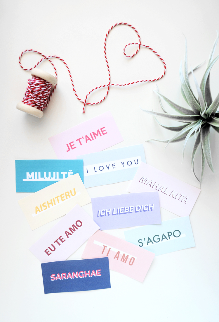 Free Gift Tags - I Love You in 10 Languages | @DrawntoDIY