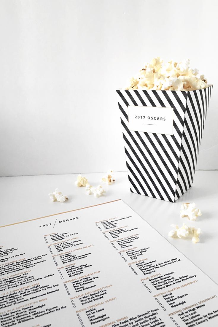2017 Oscars Printables @DrawntoDIY