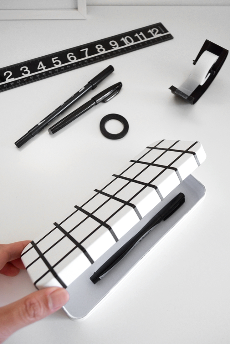 DIY Grid Pencil Case | @DrawntoDIY
