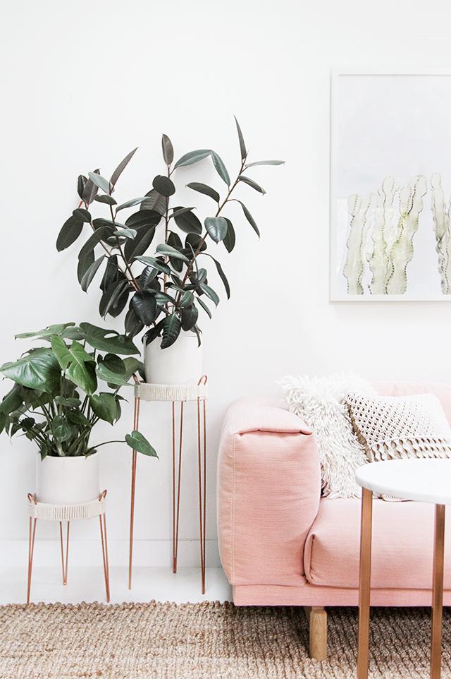 52 Weeks of DIYs | DIY Copper Plant Stand by Sarah Sherman Samuel