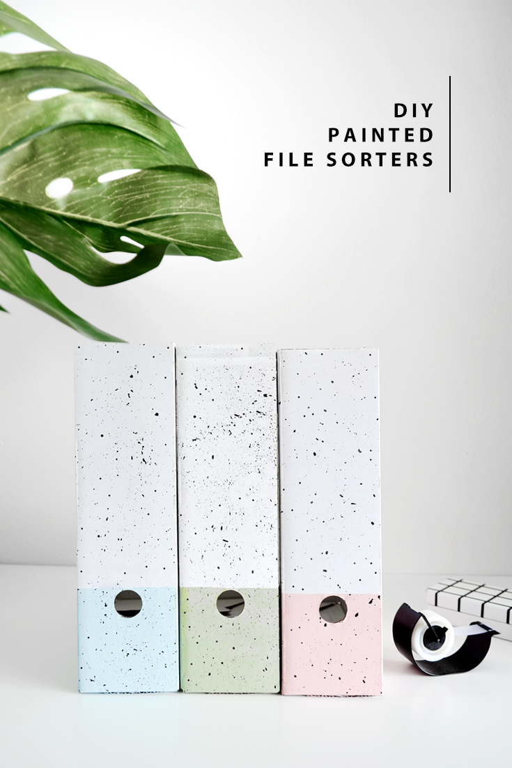 DIY Pastel Painted File Sorters @DrawntoDIY