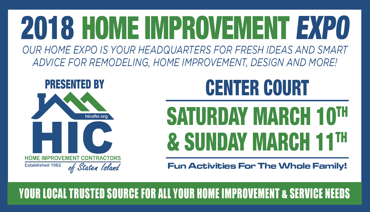 Calendar of Events — Find A Home Improvement Professional | HIC of ...