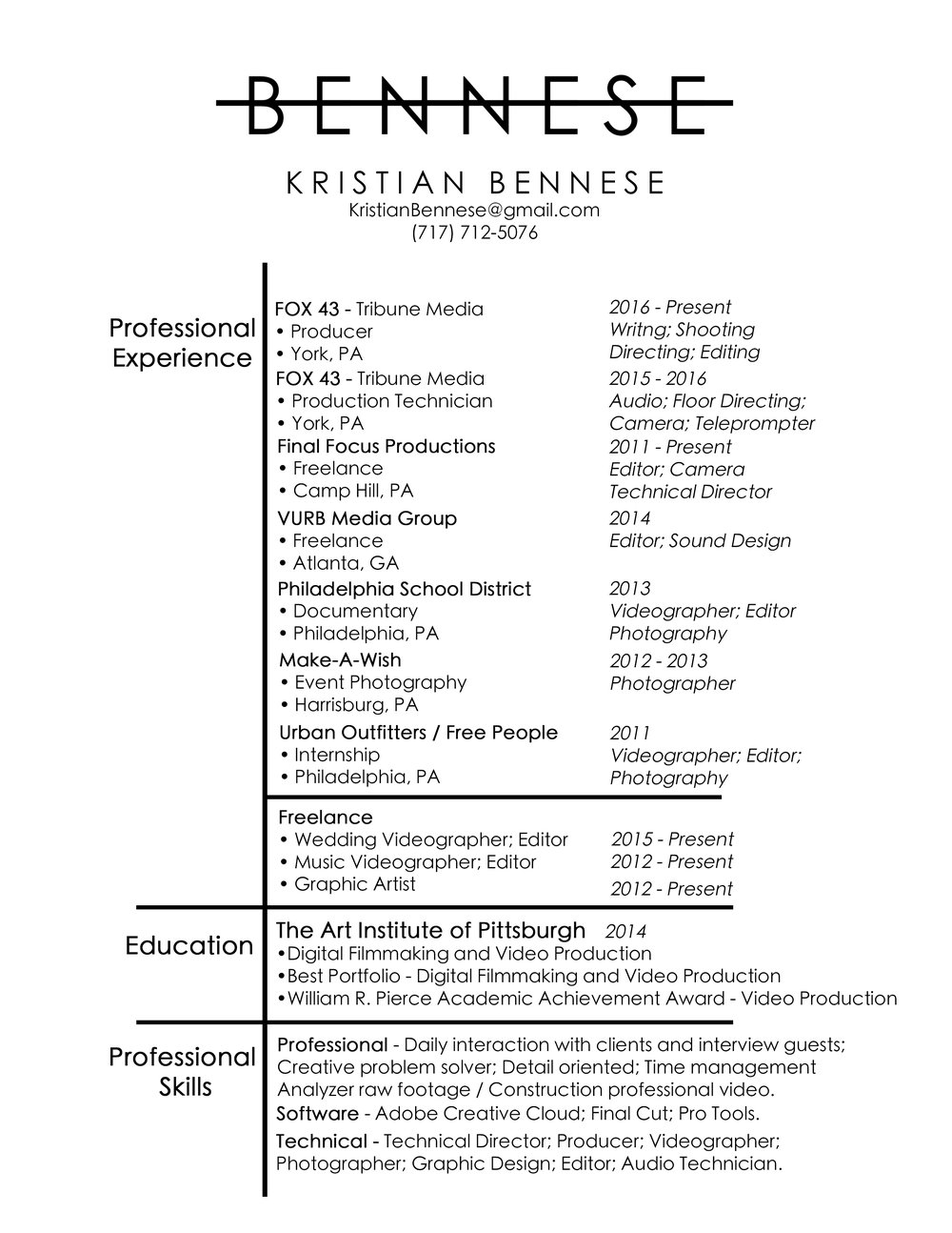 resume Urban Outfitters Resume resume bennese resume