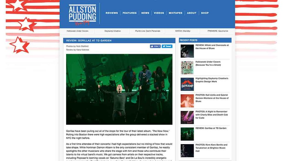 Copy of Allston Pudding Concert Review: Gorillaz