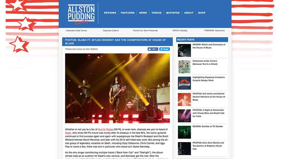 Copy of Allston Pudding Concert Review: Slash ft. Myles Kennedy