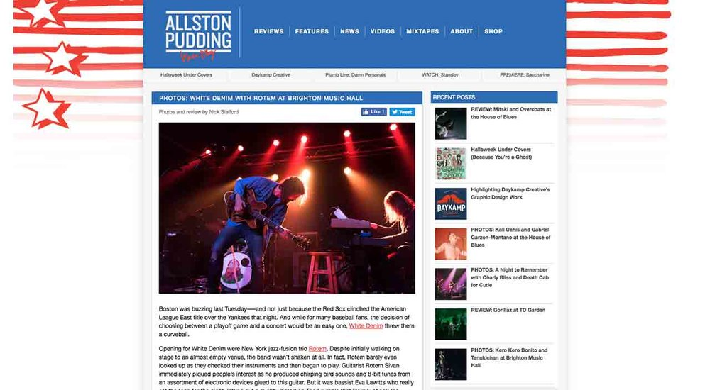 Copy of Allston Pudding Concert Review: White Denim