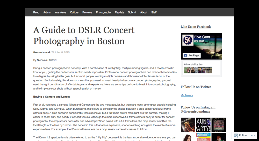 A Guide to DSLR Concert Photography in Boston