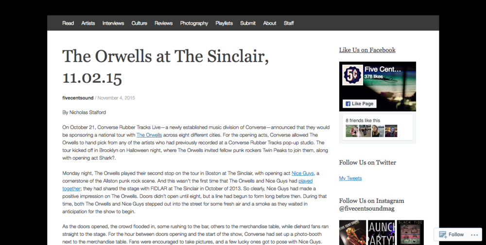 The Orwells at The Sinclair
