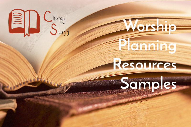 Clergy Stuff Worship Planning Resources for the Narrative Lectionary Samples Pic