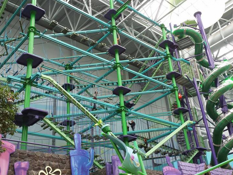 The Flying Dutchman Ropes Course at Mall of America, where I do the high-ropes course and zip line.