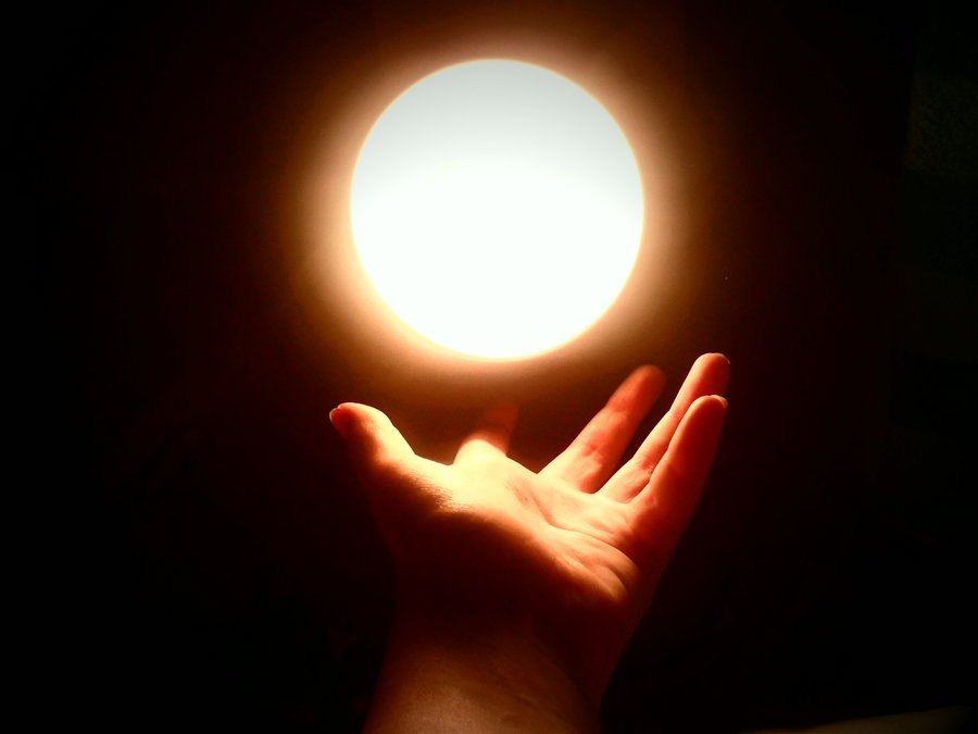 The Light of the World (Sun, Hand)