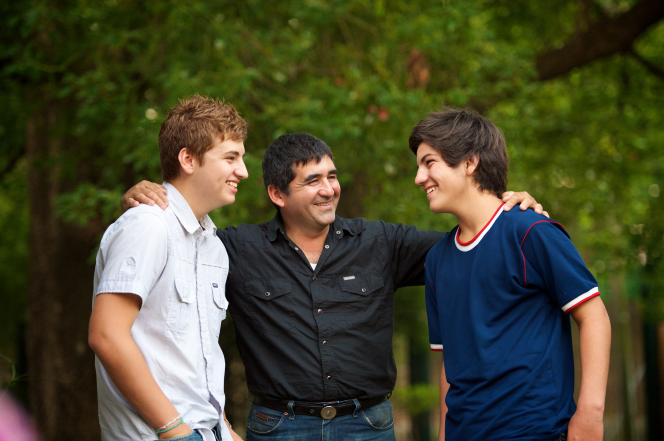 Father and sons.