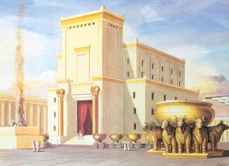 Artist's conception of Solomon's Temple.  (source: Wikipedia)