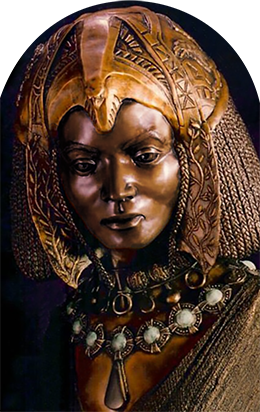 Queen of Sheba sculpture.