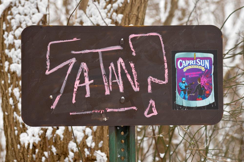 funny satan sign (cco)
