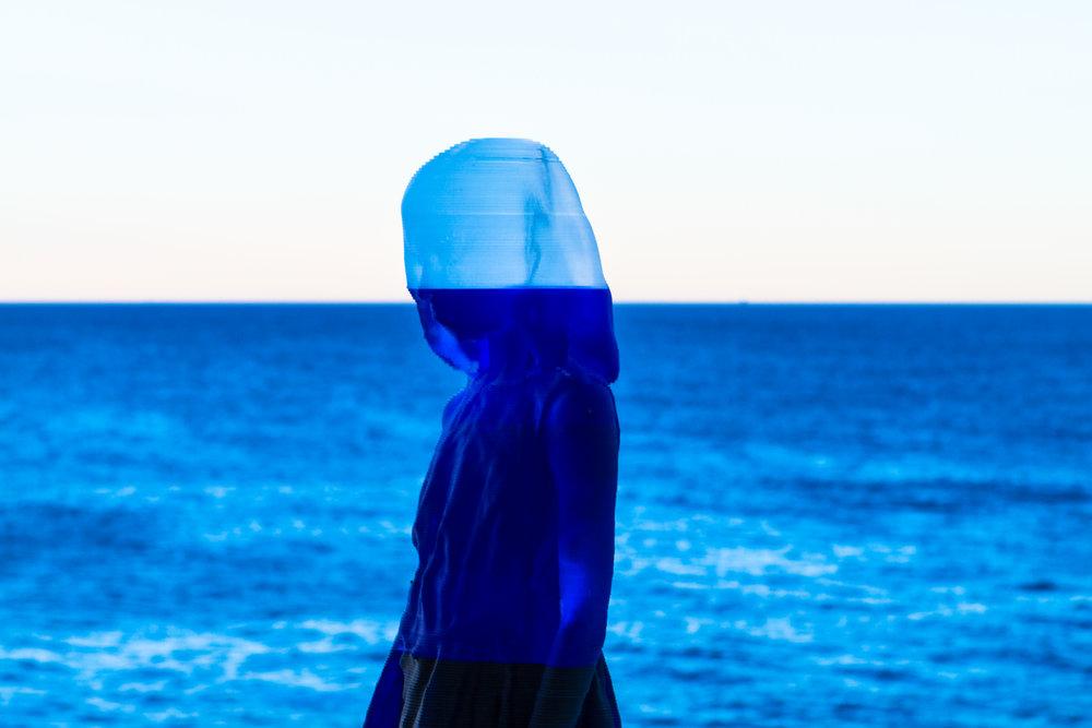 strange silhouette ocean