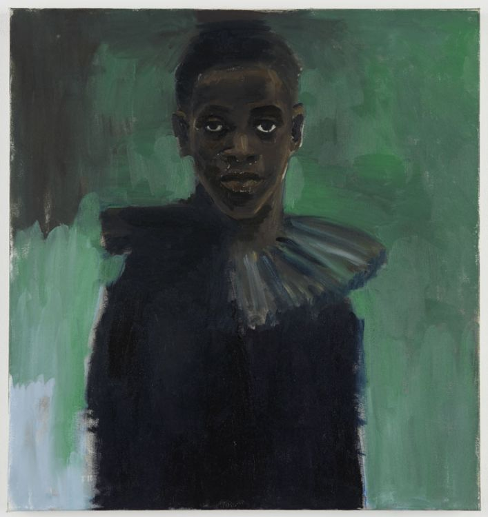 A Passion Like No Other, 2012,  oil on canvas   31 1/2 x 29 5/8 inches,   LYNETTE YIADOM-BOAKYE,