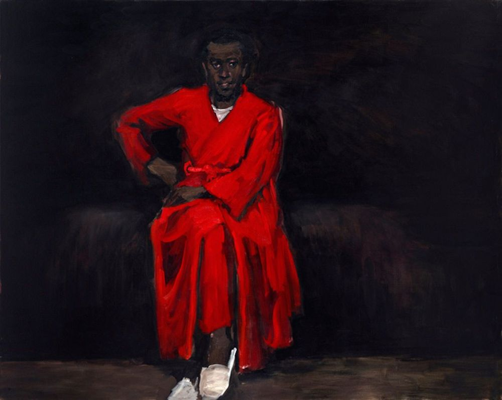 Any Number of Preoccupations, 2010  oil on canvas  63 x 78 3/4 inches  LYNETTE YIADOM-BOAKYE