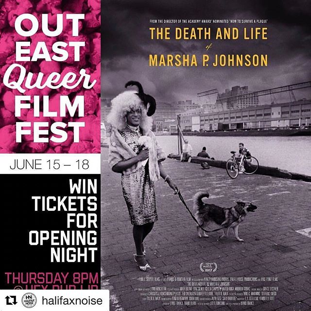 we ❤️@halifaxnoise! check out this sweet opening night ticket giveaway 😘 #Repost @halifaxnoise with @repostapp ・・・ ICYMI CONTEST ALERTTTT I'm giving away 5 pairs of tickets for the @outeastfilmfest opening night gala screening of The Death and Life of Marsha P. Johnson. Thurs June 15, 8pm at @hfxpublib (Spring Garden) . ... you can buy tix for Thursday & the whole festival at outeastfilm.com . To enter let me know who you want to bring in the comments. Tag as many friends as you want for multiple entries but ONLY ONE PER COMMENT! . Check out outeastfilm.com or follow along at  @outeastfilmfest for more details! . the contests ends at 11:11am Thursday morning & I'll slip into winners dm's right around then ... 🌈 🦄🖤🍦🎈🍺👌🏻 #outeast17 . (This Contest is in no way being sponsored, administered, or associated with Twitter, Pinterest, Tumblr Facebook or Instagram Inc.) #imgivingawaymorestuff