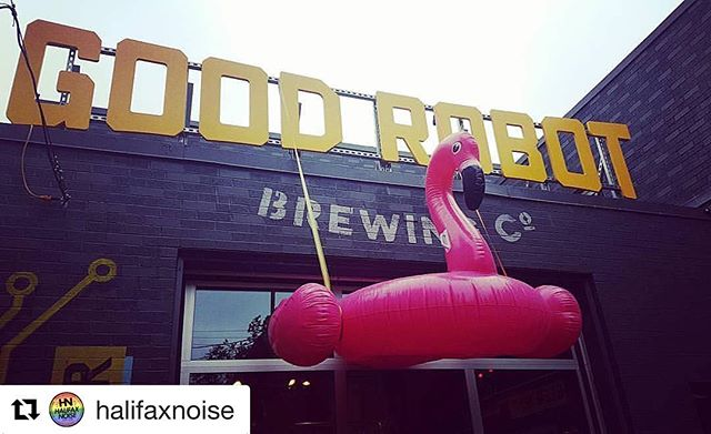 #Repost @halifaxnoise with @repostapp ・・・ TONIGHT at @goodrobotbrew $10 / 10pm SILENT DISCO brought to you by @outeastfilmfest — Getting our flamingos in a row for the 70's pool party themed silent disco happening at @goodrobotbrew brought to you by @outeastfilmfest -- @10 PM // $10 -- #HALIFAX #queer #outeast2017 #ballpit