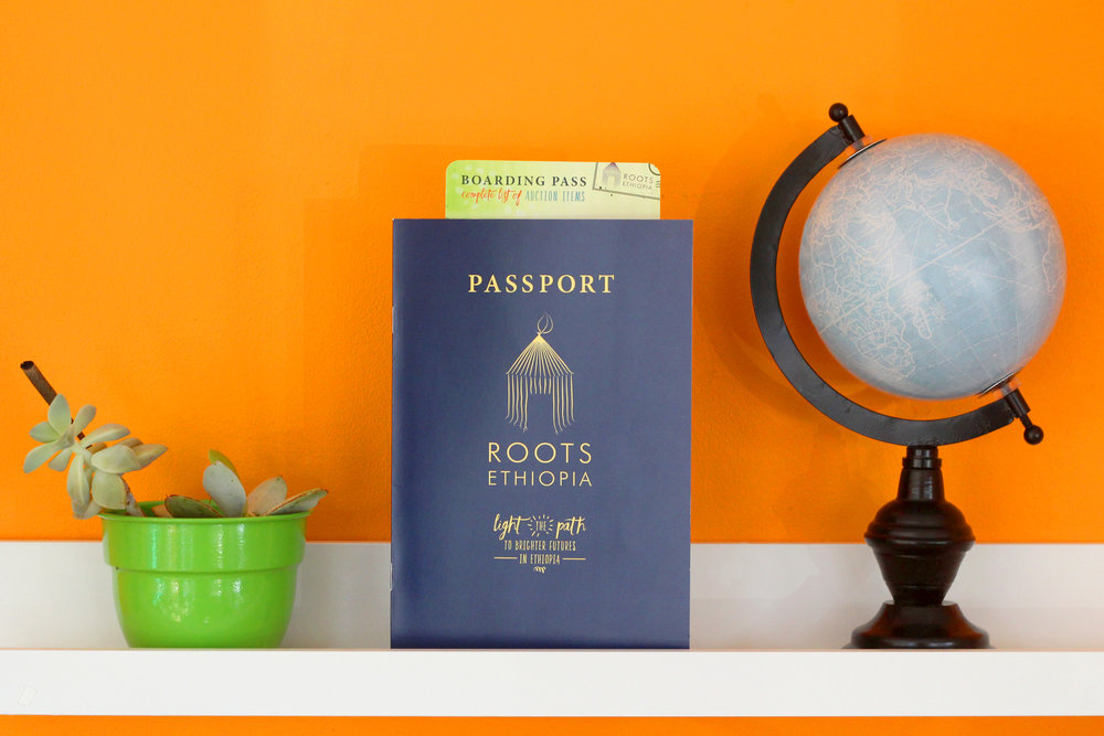holly avenue designs roots Ethiopia print passport booklet