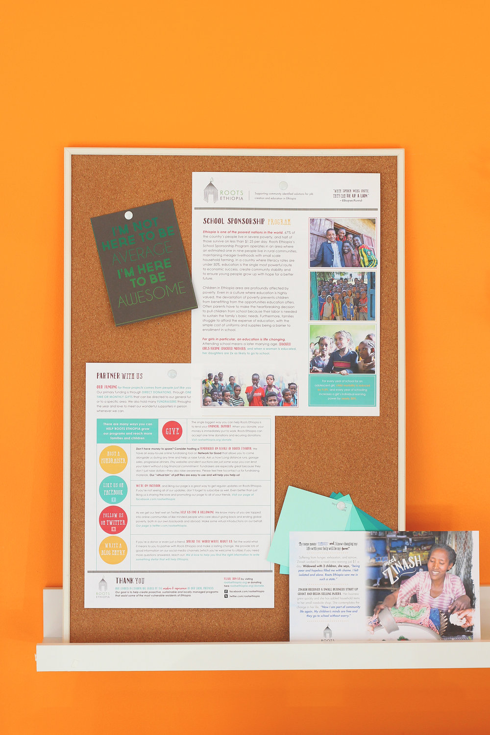 holly avenue designs roots ethiopia newsletter mailer print