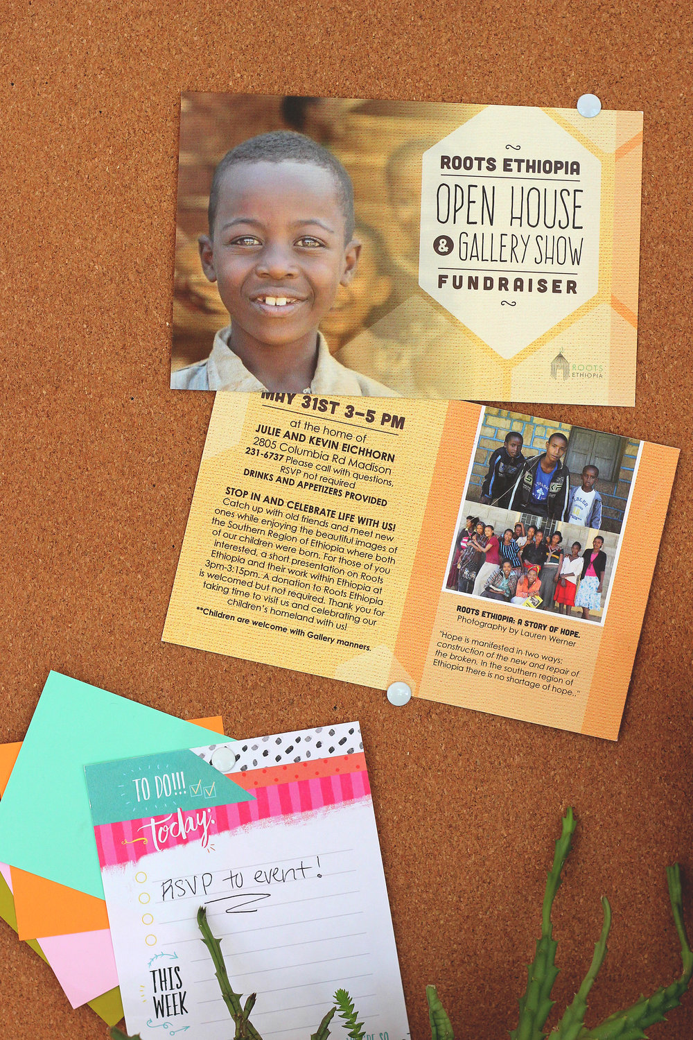 holly avenue designs madison roots ethiopia fundraiser invitation