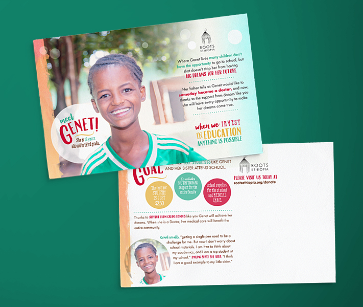 holly avenue designs madison roots ethiopia educational mailer postcard