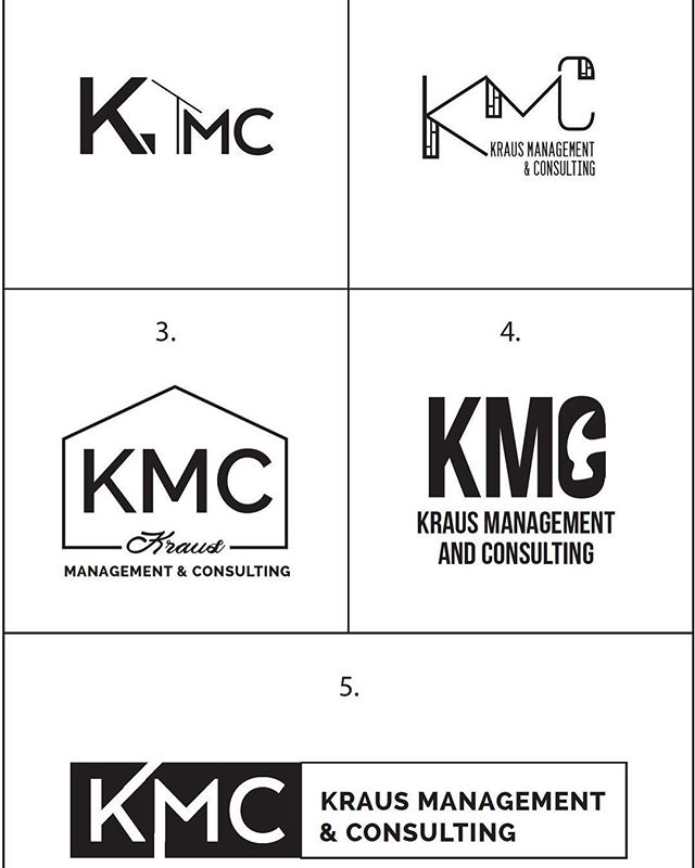 "It's that time again- let's play ""Select your favorite logo!"" We gave our client, who is a project manager in the construction trade, these five logo options. Which do you like best? We'll post the winner in a few days! ... #graphicdesign #websitedesign #localmadison #hollyavenuedesigns"
