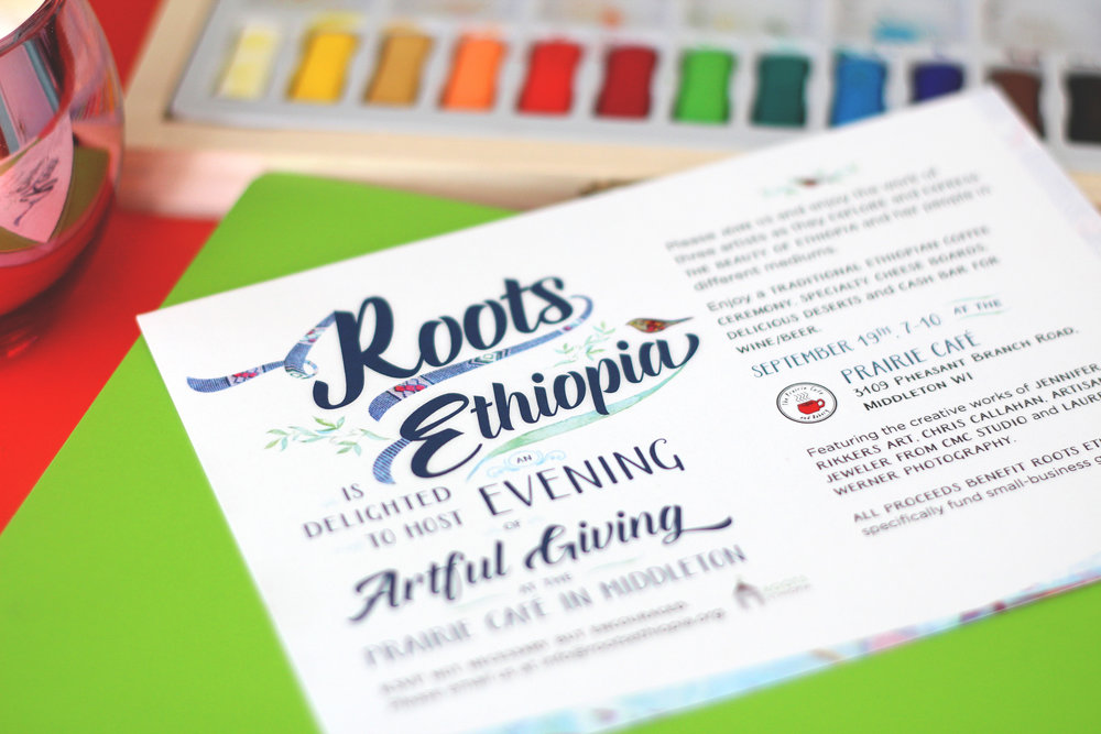holly avenue designs madison roots ethiopia typography art invitation