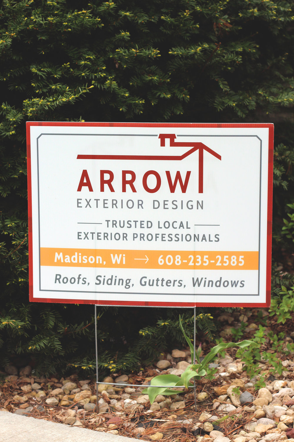 holly avenue designs madison arrow exterior design lawn sign outside promotion