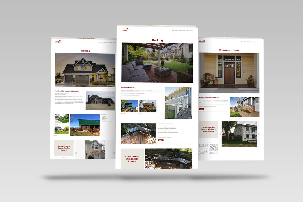 Arrow Exterior Design Squarespace Holly Avenue Designs Madison Wisconsin Graphic Studio