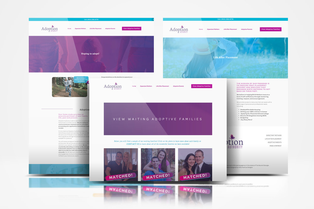 adoption authority Holly Avenue Designs Madison Wisconsin Branding Web Design