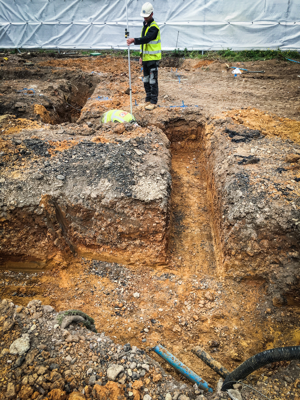 Setting out and excavating the foundations