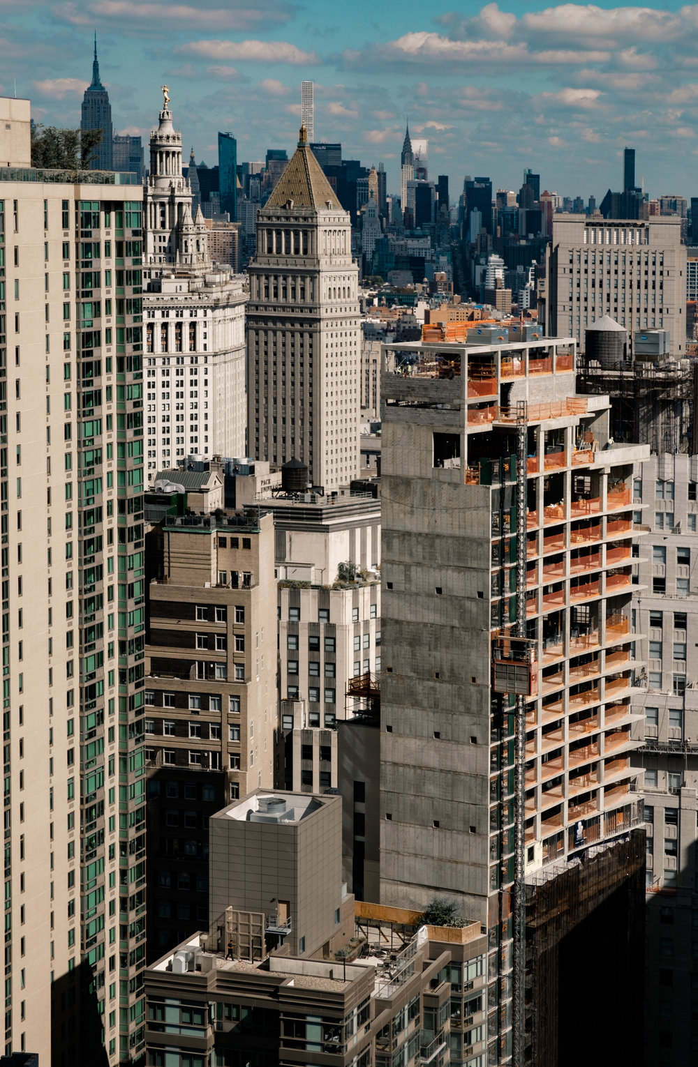 A view of Manhattan from a private balcony near Wallstreet