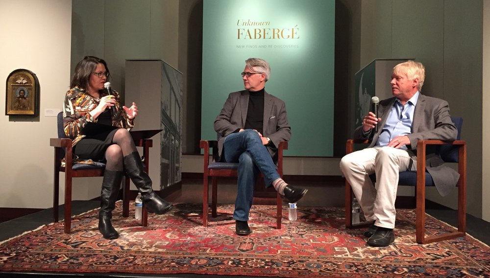"Jocelyn Hale moderates a panel discussion with authors Douglas Smith (""Rasputin"", Farrar, Straus and Giroux, 2016) and Robert Alexander (""Rasputin's Daughter"", Penguin, 2006) at Minneapolis's Museum of Russian Art."